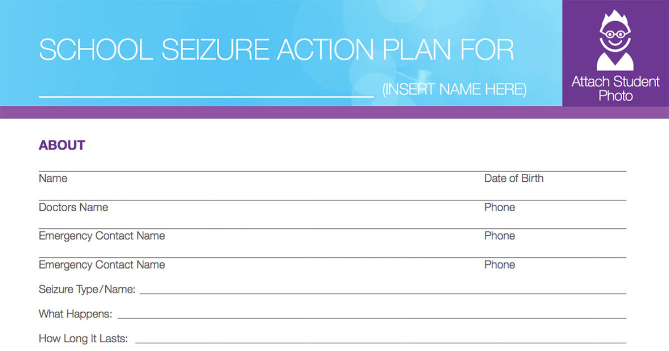 Sudden unexpected death in epilepsy sudep child for Seizure action plan template