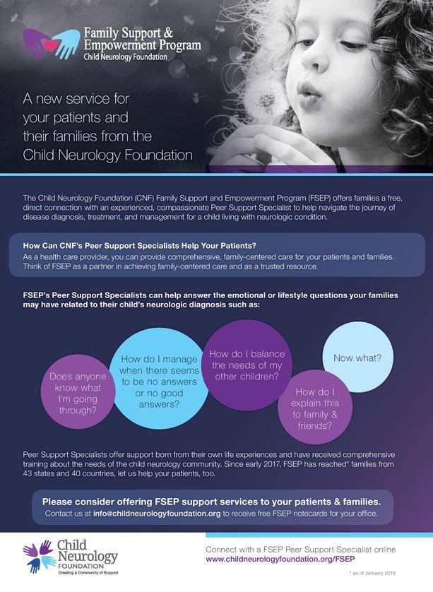 Family Support & Empowerment Program (FSEP) - Child Neurology Foundation