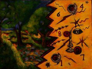 Painting by Myron Dyal
