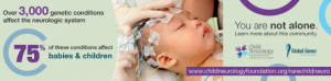 Picture of baby with monitors attached to head