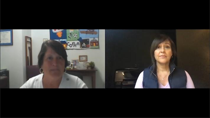 Screenshot of Coversation between Monika Jones and Denise Marshall