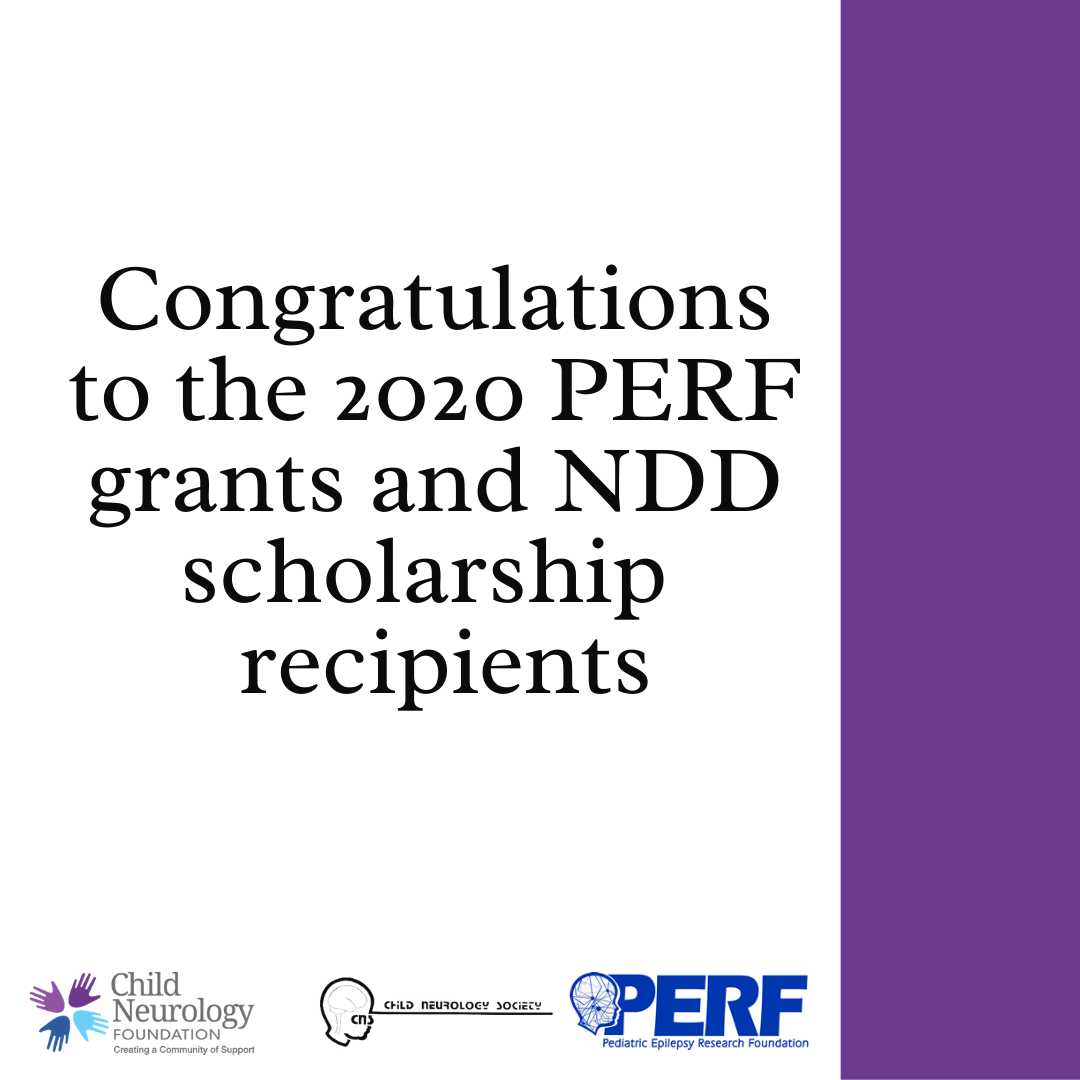 Congratulations to the 2020 PERF and NDD grant recipients!
